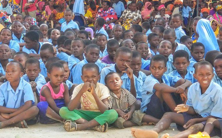 Group of kids listening