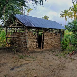 hut used as school