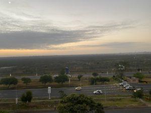 Sunrise from the hotel in Nairobi.